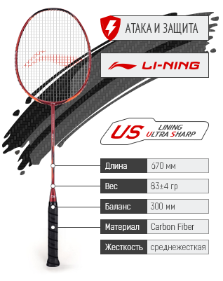 Ракетка для бадминтона LI-NING TURBO CHARGING 01D.