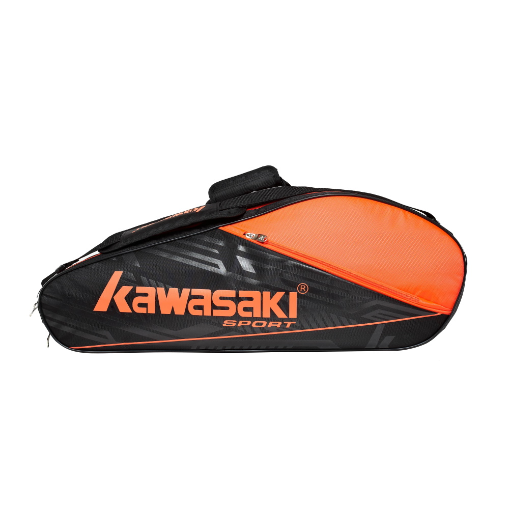 Сумка KAWASAKI TCC-055 BLACK-ORANGE для бадминтона.